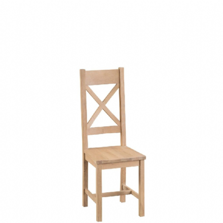 Malmo Oak Cross Back Chairs with Wooden Seat